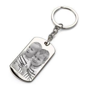Schlüsselanhänger Platte mit 2 Fotos