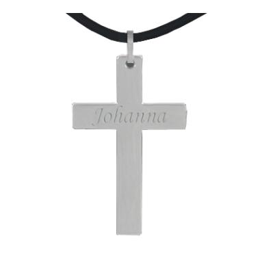 Anhänger Kreuz mit Gravur