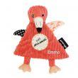 Personalisiertes Schmusetuch Flamingos der kleine Flamingo