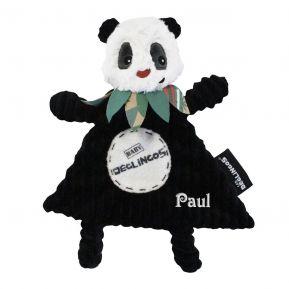 Personalisiertes Schmusetuch Rototos der Panda
