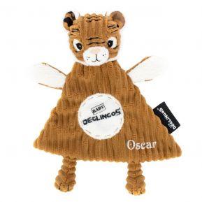 Personalisiertes Schmusetuch Speculos der Tiger