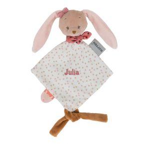 Kleines Schmusetuch Pauline der Hase mit Name