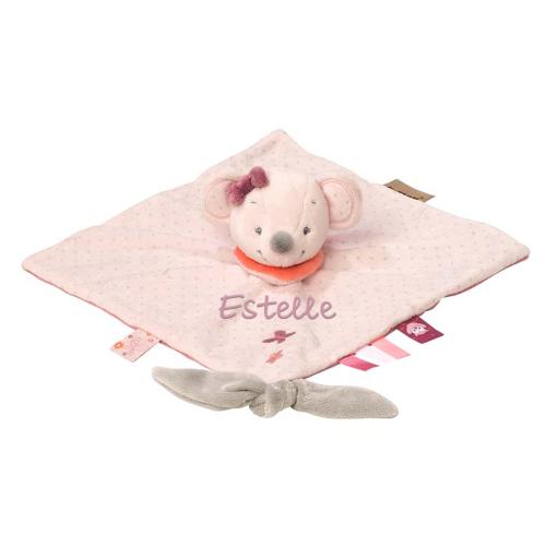 Schmusetuch rosa Maus mit Name
