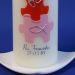 Taufkerze Engelchen Wiese rosa