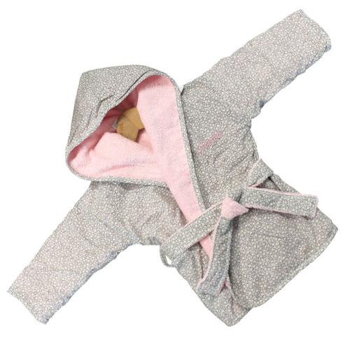 Bestickter Bademantel für Babys Mila
