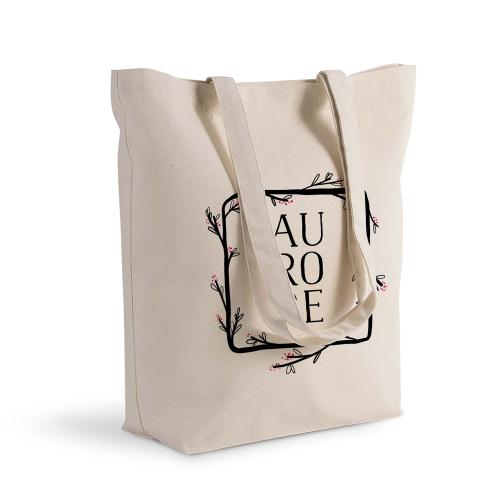 Shoppingtasche Deluxe personalisiert mit Blumenrahmen