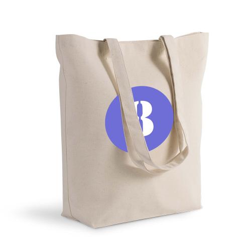 Shoppingtasche Deluxe personalisiert mit farbiger Kreis