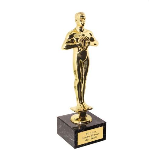 Vergoldete Siegerstatue