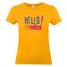 T-shirt Hello Gelb