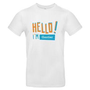 T-Shirt für Herren HELLO personalisiert