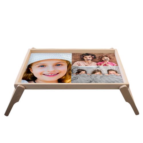 Tablett fürs Bett mit Fotomontage