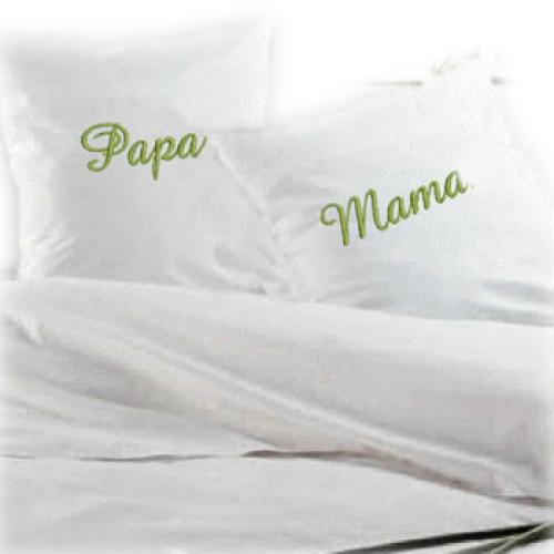Bettwäsche mit individueller Bestickung