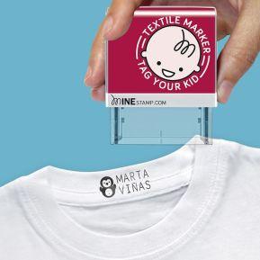 Personalisierbarer Textil- und Papierstempel