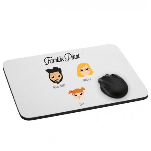 Mousepad We Are Family 3 Vornamen