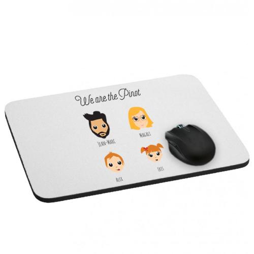 Mousepad We Are Family 4 Vornamen