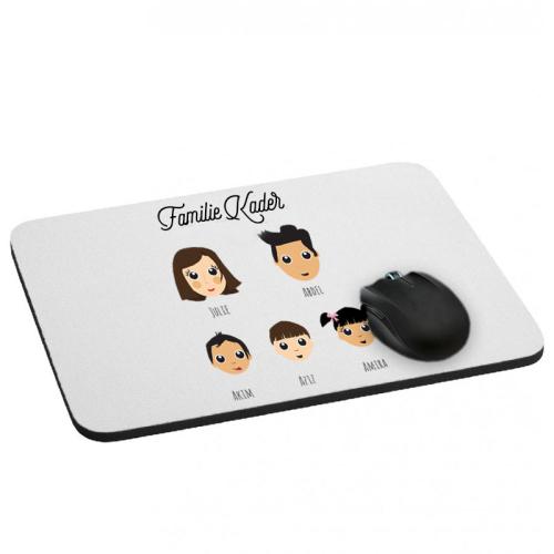 Mousepad We Are Family 5 Vornamen