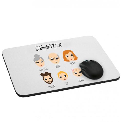 Mousepad We Are Family 6 Vornamen