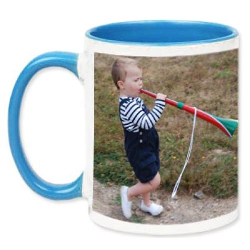 Tasse blau mit Foto
