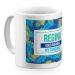 Tasse mit Palmendesign blau