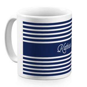 Personalisierte Tasse im Matrosen-Design