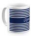 Tasse im Matrosen-Design blau