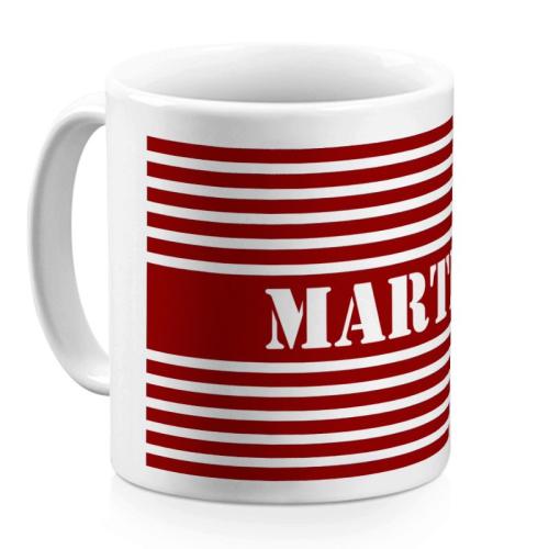 Tasse im Matrosen-Design rot