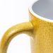 Tasse mit Pailletten gold