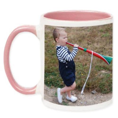 Tasse rosa mit Foto