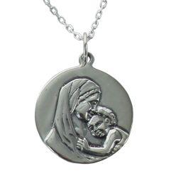 Taufmedaillon Maria und Jesus personalisiert