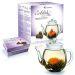 Teekanne und Erblühtee (schwarzer Tee)