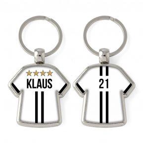 Personalisierter Schlüsselanhänger Trikot mit 2 Streifen