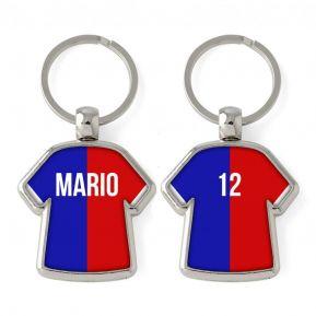 Personalisierter Schlüsselanhänger Trikot Zweifarbig