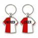 Schlüsselanhänger Trikot rot/weiss