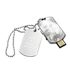 Gravierter USB-Stick 16 GB Erkennungsmarke mit Foto