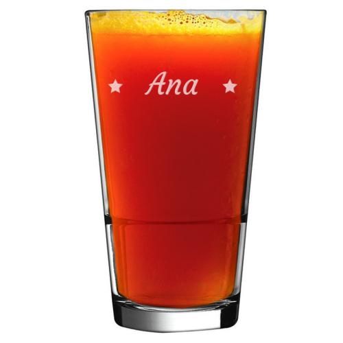 Gravierter Cocktailglas mit Namen Sterne