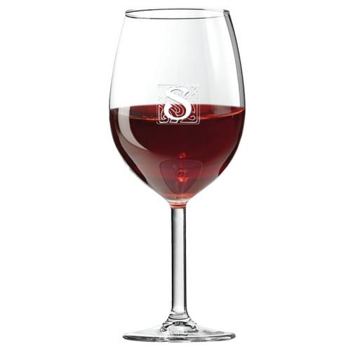 Graviertes Weinglas mit Initialen Stone