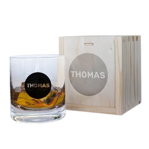 Whiskyglas mit Personalisierung in Kreis