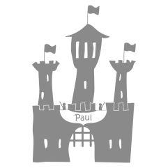 Wandsticker Burg mit Name