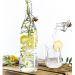 Wasserflasche mit Zitronen und Rosmarin