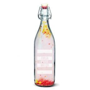 Personalisierte Wasserflasche 1L mit Bügelverschluss