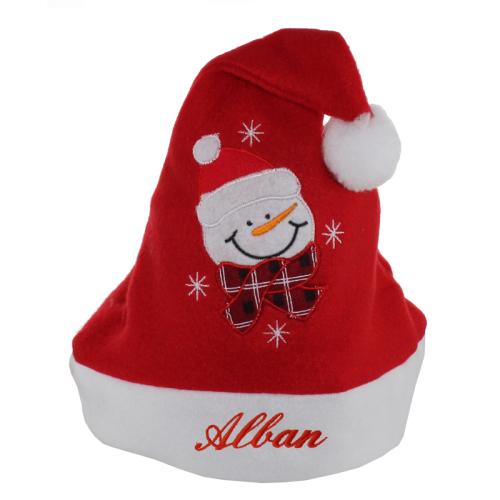 Weihnachtsmütze für Kinder Schneemann
