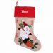 Weihnachtssocken im Leinen-Stil Schneemann