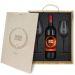 Weinbox mit Gläsern und personalisiertem Logo Abschluss