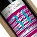 Weinflasche Geburtstag mit Name violett