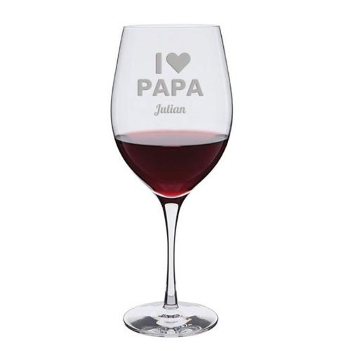 Weinglas I love Papa