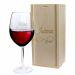 Weinglas mit Holzkiste Unendlich