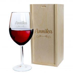 Weinglas für die Liebste