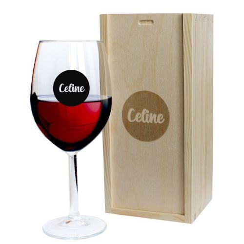 Weinglas mit Serigraphie