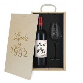 2-teiliges Weinset Jahrgang