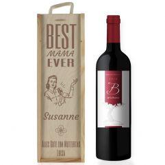 Weinkiste Für Mama mit Gravur